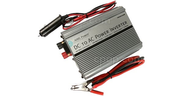 400 Watt DC to AC Power Inverter - Shown with Cords
