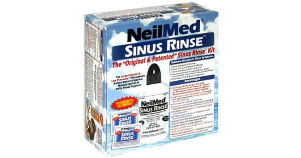 Sinus rinse box mfg