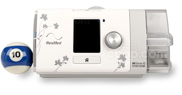 AirSense™ 10 AutoSet for Her CPAP Machine with HumidAir™ Heated Humidifier (Billiards Ball Not Included)