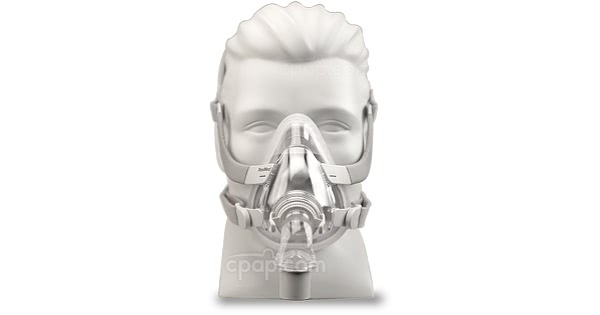 AirTouch™ F20 Full Face CPAP Mask with Headgear - Front (Mannequin Not Included)