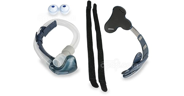 Breeze Nasal Pillow CPAP Mask Bundle (Shown Unassembled)