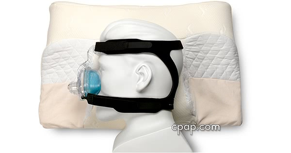 CPAP Memory Pillow with CPAP Mask