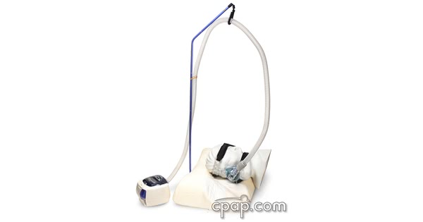 cpap hose lift with head machine hose2