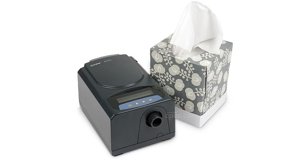 Curasa Auto CPAP Machine - Front With Tissue Box  (Not Included)