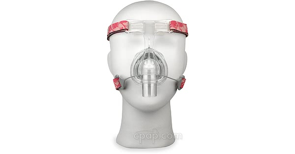 Lady Zest Q Nasal CPAP Mask with Headgear - Front (Shown on Mannequin)
