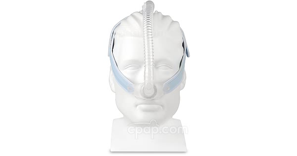 Mr. Wizard 230 Nasal Pillow CPAP Mask with Headgear - Front (Mannequin Not Included)