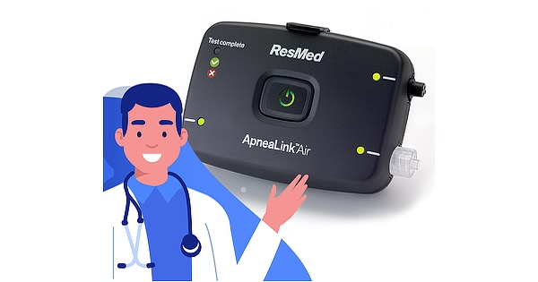 resmed apnealink air device with doctor visit 2