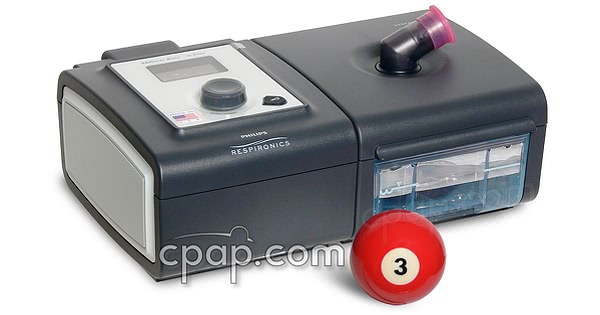PR System One REMstar Plus CPAP Machine with C-Flex Shown with Humidifier
