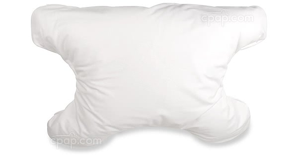 SleePAP CPAP Pillow with Pillowcase - Plain White Fabric - Upright View