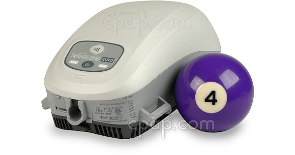 Transcend Auto Travel CPAP Machine with EZEX - Shown with Billard Ball (Not Included)