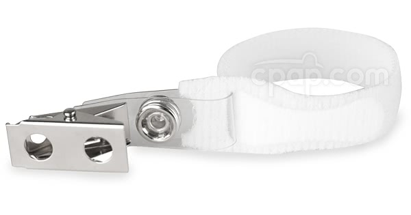 Clip for CPAP Hoses, Tubing and Bedding - White
