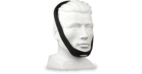 Universal Chinstrap- Angle Front -Shown on Mannequin (not included)