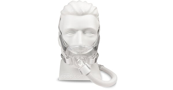 Front View of the Amara View Full Face CPAP Mask with Headgear (Mannequin Not Included)
